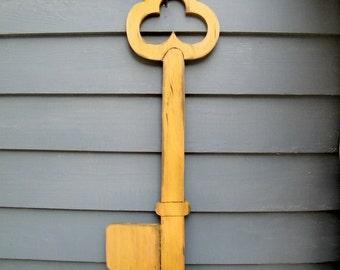 Large Skeleton Key Large Wooden Key Wooden Skeleton Key Oversized Key Alice in Wonderland Large Key Sign Large Key Decor Key to My Heart