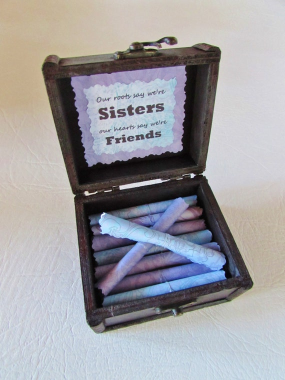 Sister Gift, Sister Birthday, Sister Scroll Box, Sister Quotes in Wood Box, Sister Gift Idea, Sister Card, Sister Jewelry, Sister Necklace