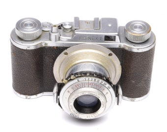 Wirgin Edinex I Camera with Compur Shutter & Kataplast 50mm f/2.8 Lens c. 1951