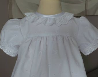 romper 12 months in broderie anglaise