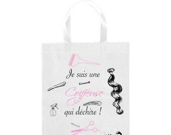 Fashion tote bag, shopping bag , French, coiffeuse