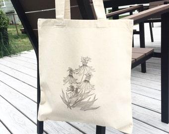 TOTE Bag - Cotton Tote Bag - Shopping bag - Coneflower