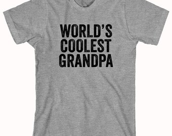 World's Coolest Grandpa Shirt, father's day gift idea, papa, Christmas, birthday, new grandfather - ID: 917