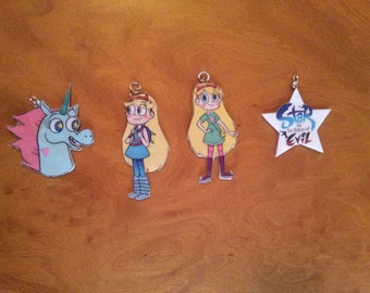 Star vs the Forces of Evil Necklaces and Keychains - Star, Ponyhead and star title - Keychains - Brooch - Movile Strap - Choker -Lanyard