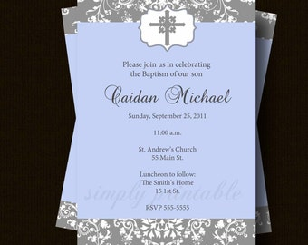 Boys Communion Invitation