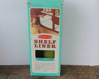Vintage Rubbermaid Avocado Shelf Liner in Original Box