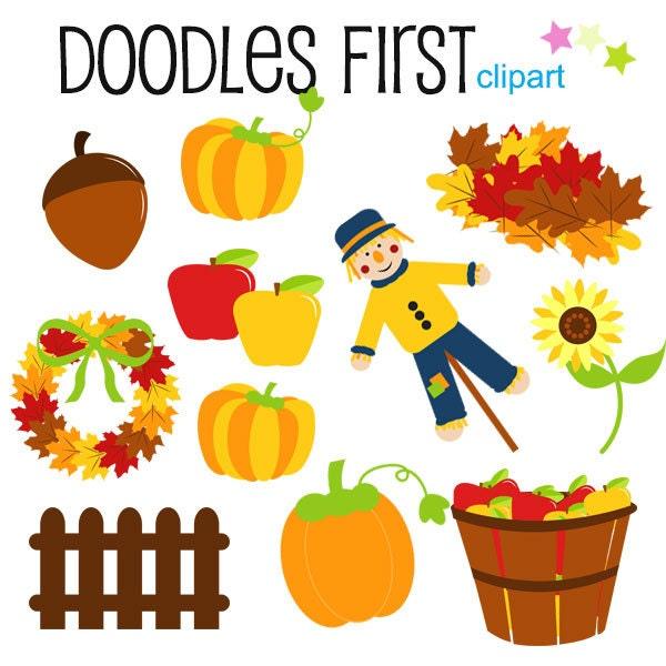 fall season fun clipart digital clip art for scrapbooking card rh etsy com  fall season leaves clipart