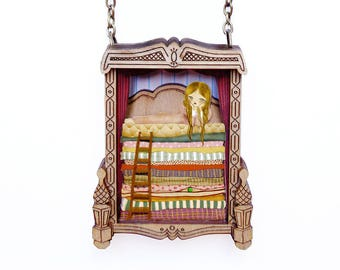 The Princess and the Pea. Necklace. Laliblue