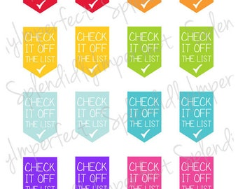Check It Off The List Planner Stickers