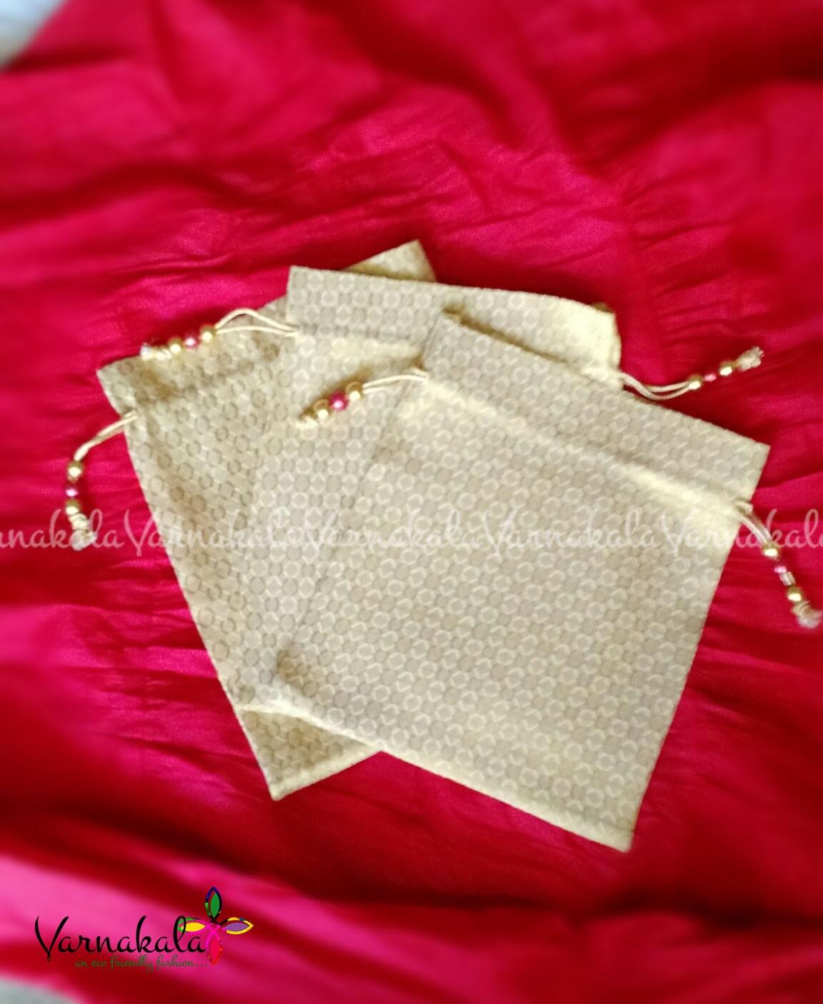 50 Fabric Drawstring pouch- 8\