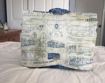 Model Airplane Backpack Purse