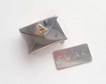 Envelope charm for bracelet SWAK initial A