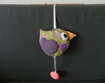 little bird beak persimmon orange hanging