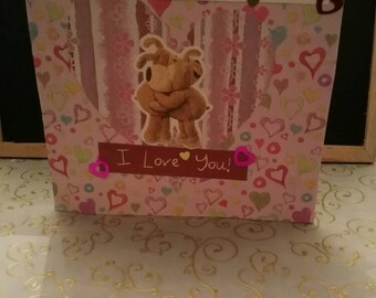 Handmade I just want to say I love you card