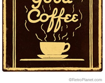 Good Coffee Steam Wall Decal #40832