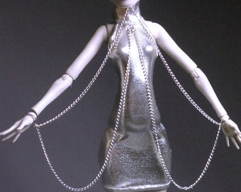 Dolls outfit/Pants/ Dress/clothes for Monster High Doll -Silver chain- No.647
