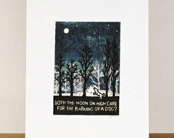 Proverb 12: Doth the moon on high care for the barking of a dog?