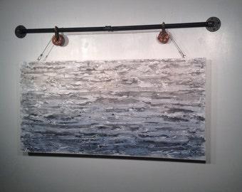 Abstract painting, acrylic wall art, original art, industrial, living room, wall decor, Jmjartstudio, gift for him