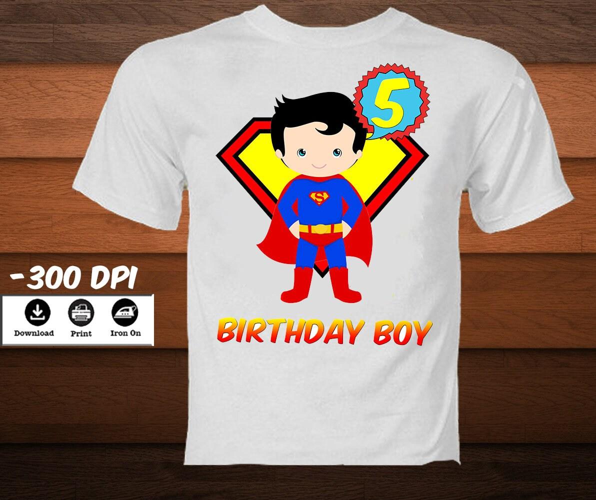 Digital Superman Iron on Transfer Shirt-Printable Super Hero