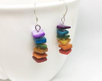 Rainbow Stack Earrings