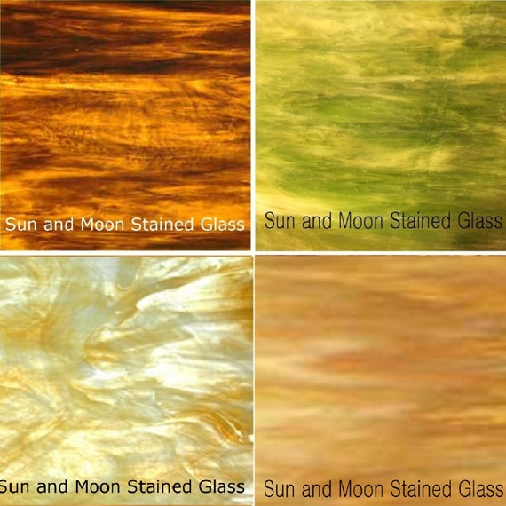 Wissmach Stained Glass Sheet Pack 4 Sheets Of 8X10
