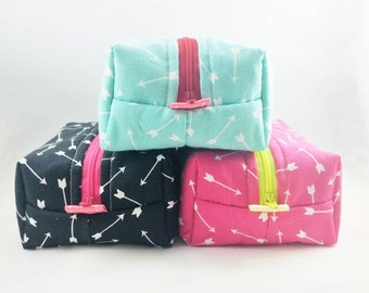MINT BLACK PINK Boxed Pouch | Hygiene bag | Cosmetic bag | Crafts Bag | Everyday Pouch | Zipper Bag