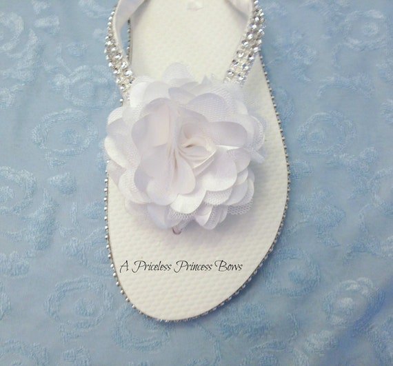 Flops Sandals Flip Wedding Custom Rhinestone Flip Bridal Flops Flower Flip Bridal White Flops Sandals Colors Flops Wedding Flip fwq5FEfZB