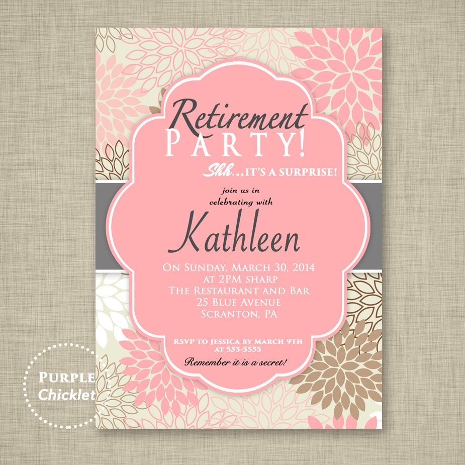 Description. Surprise Retirement Party Invitation ...