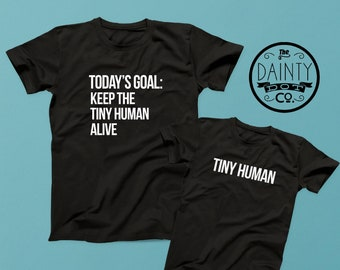 Dad and Baby Matching Shirts , Tiny Human, Matching shirts,  Daddy and Me,Dad and Kid,Dad From Daughter, Father and Son,t-shirt,tshirt