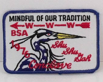 Vintage Mindful Of Our Tradition WWW BSA Shu Shu Gah 1976 Conclave Embroidered Patch 3 In Quantity