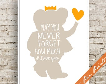 May You Never Forget How Much I Love You - Art Print (Unframed) (featured in Sand and Sunrise) Elephant Print