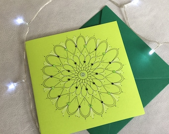 Handmade card with sequins