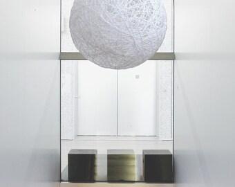 """White pendant lamp, globe pendant light, design light fixture. Designing light up . Modern ceiling light, modern ceiling lamp (50cm-20"""")"""