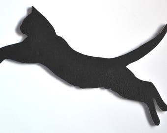 Cat in action two-sided for wall decoration
