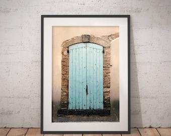 Avignon Blue Door | Architecture Photography | Instant Download | Printable Art | Avignon, France | Blue Old Door | Fine Art Photography