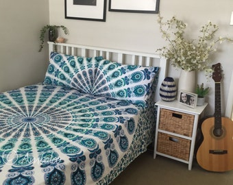 Doona CoverDoona Cover, Mandala roundie, throw, bedding, boho, blanket, beach, ,girls, art, bedroom, bohemia hippy, bedspread, duvet