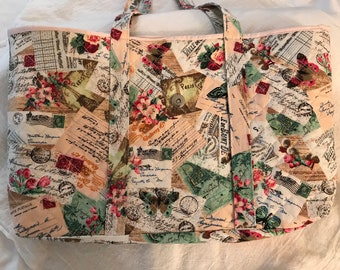 Handmade Quilted Tote Bag