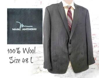 wool tailored sport coat - men's wool blazer, men's office attire , men's sports jacket, men's blazer, wool sport coat ,size 48 L  # 181