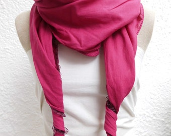 Clarissa cloth women's raspberry cotton with high end hand dyed