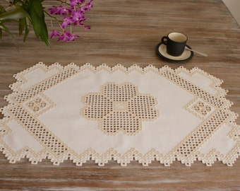 Rectangle Hardanger Doily