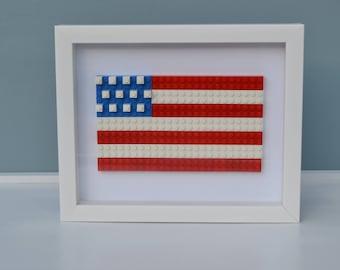 American Flag Wall Art,  Lego