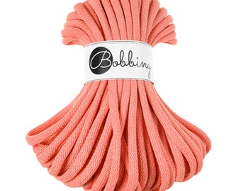 9mm Cotton Cord 22 yards (20 meters) - Peach; giant macrame cord, chunky yarn, cotton rope, macrame string