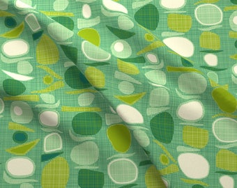 Mid Century Modern Fabric - Balance By Scrummy - Green Modern Home Decor Cotton Fabric By The Yard With Spoonflower