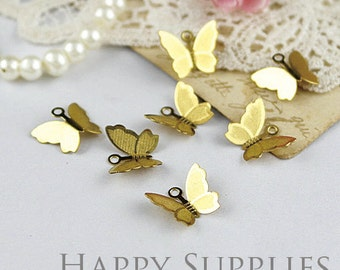 10Pcs Nickel Free - High Quality Raw Brass butterfly (ZZ156)
