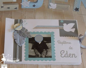 ON order-guestbook essential bird and star blue white and grey