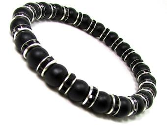 Onyx Gemstone Mens Bracelet, Men Bracelet, Mens Gift, Mens Bracelet, Men Gemstone Bracelet,Bracelet for Men, , Beaded Bracelet