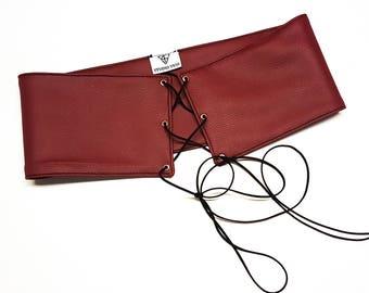 Lace up waist belt