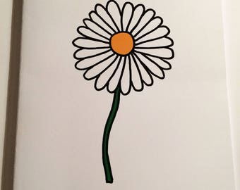 A5 Daisy Notebook (plain inside)