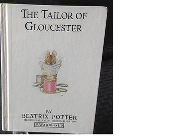 1986 Glossy Small Hardback The TAILOR Of GLOUCESTER By Beatrix Potter (1532)