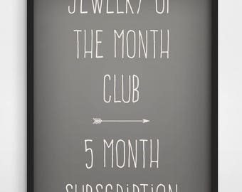 Spoon Ring Edition 5 Month Prepaid Subcription Jewelry of the Month Club